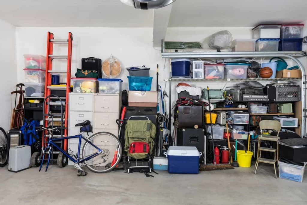 Always close your garage door so thieves can't steal your belongings