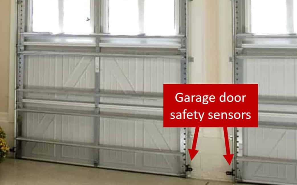 Garage door safety sensor callout